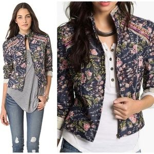 Free People Meadow Quilted Voile Jacket